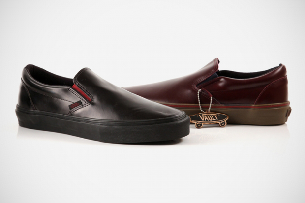Image of Vans Vault Premio Leather Slip-Ons