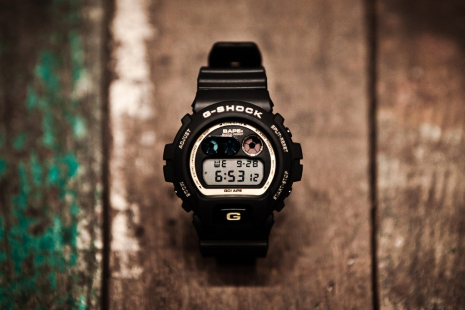 Image of A Bathing Ape x Casio G-Shock DW-6900 Black/Gold