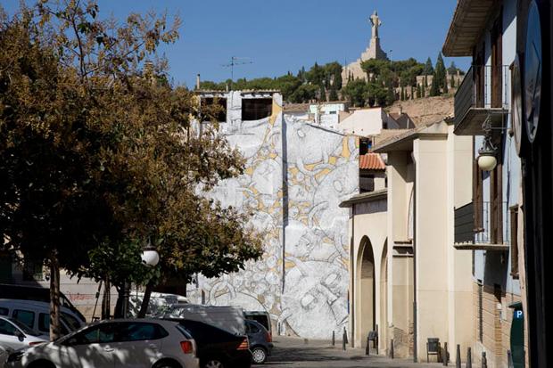 Image of Blu @ Tudela Avant-Garde Urbano Festival, Spain