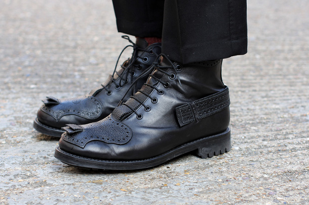 Image of Casely-Hayford for John Moore Men's Brogued 7-Hole Boot
