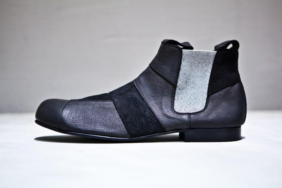 Image of COMME des GARCONS HOMME PLUS Patchwork Chelsea Boots