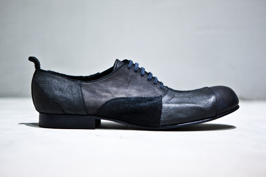 Image of COMME des GARÇONS HOMME PLUS Patchwork Lace-Up Shoes
