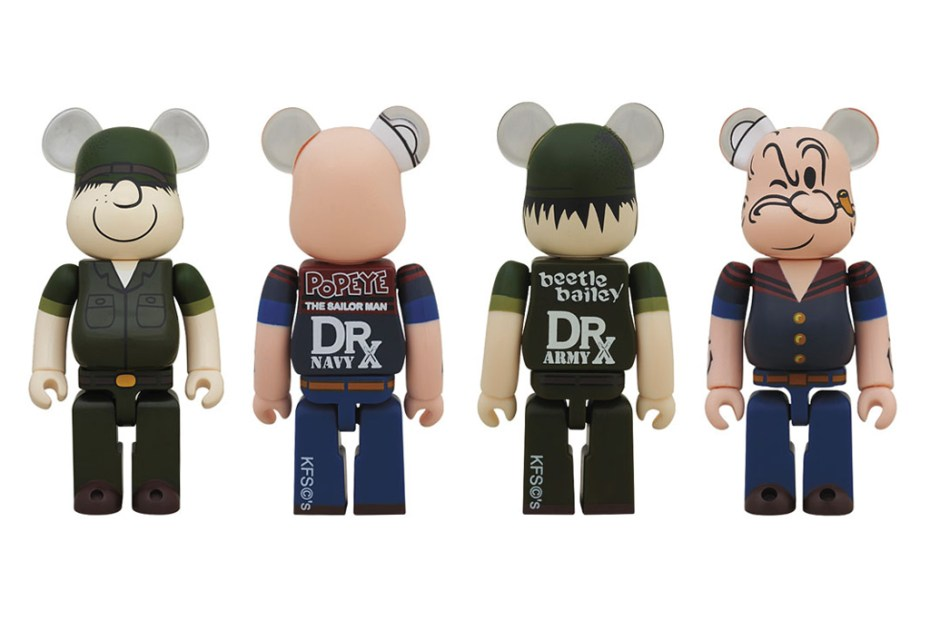 Image of Dr. Romanelli x Medicom Toy Beetle Bailey & Popeye Bearbricks
