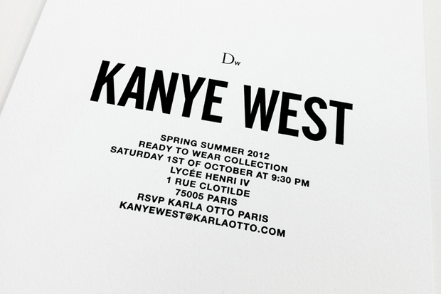 Image of Dw by Kanye West 2012 Spring/Summer Presentation Invite