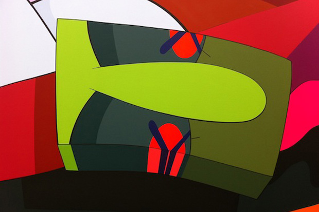"Image of KAWS ""Hold The Line"" Exhibition @ Honor Fraser Further Preview"