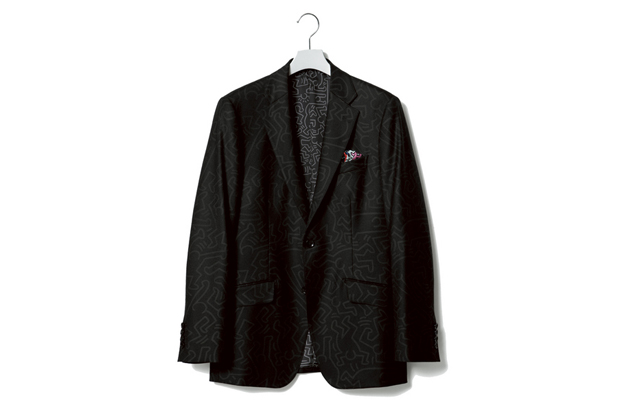 Image of Keith Haring x uniform experiment PATTERN WOOL 2 BUTTON JACKET
