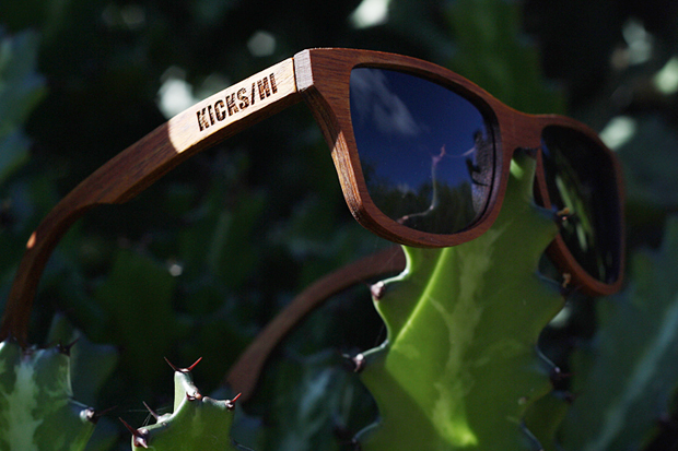 "Image of KICKS/HI x Shwood 10th Anniversary Koa Wood ""Canby"" Sunglasses"
