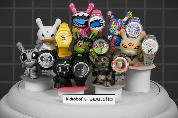 Image of Kidrobot x Swatch Stop Motion Video