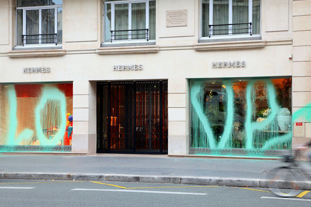 Image of Kidult Vandalizes Hermès Paris