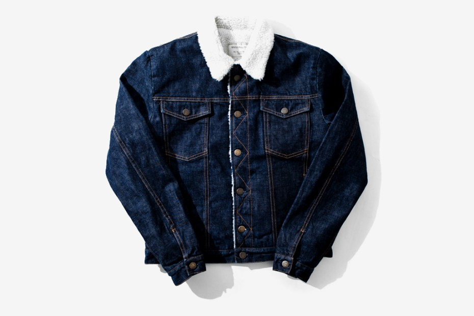 Image of Kitsuné Shearling Denim Jacket
