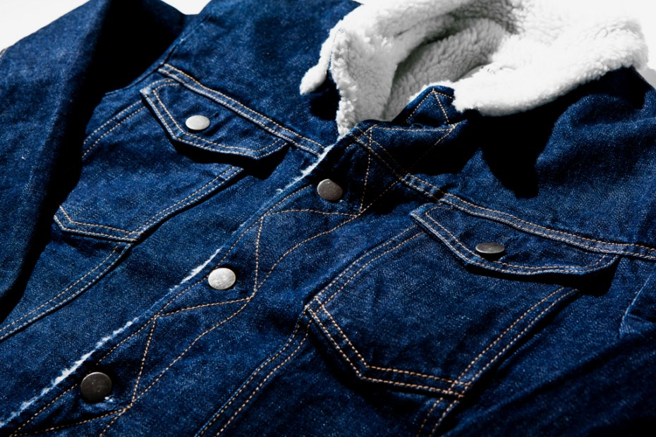 Image of Kitsuné Shearling Denim Jacket