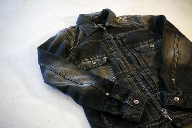 Image of mastermind JAPAN Washed Denim Jacket