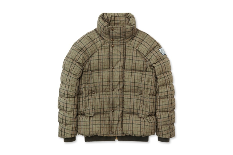 Image of Moncler Gamme Bleu Check Down Jacket