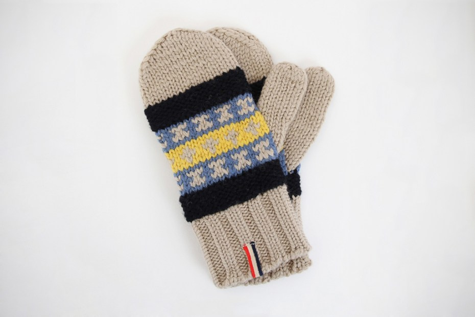 Image of Moncler V Knitted Fair Isle Gloves