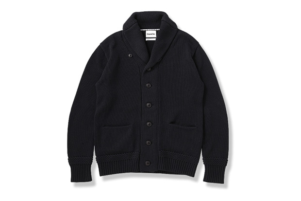 Image of OriginalFake Cotton Shawl Collar Cardigan