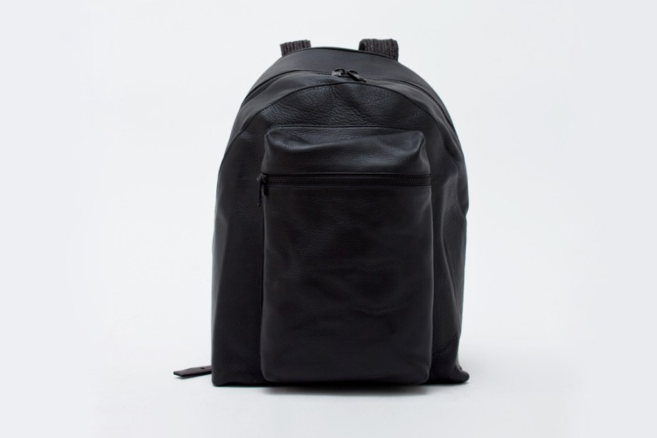 Image of Patrik Ervell Deerskin Leather Backpack