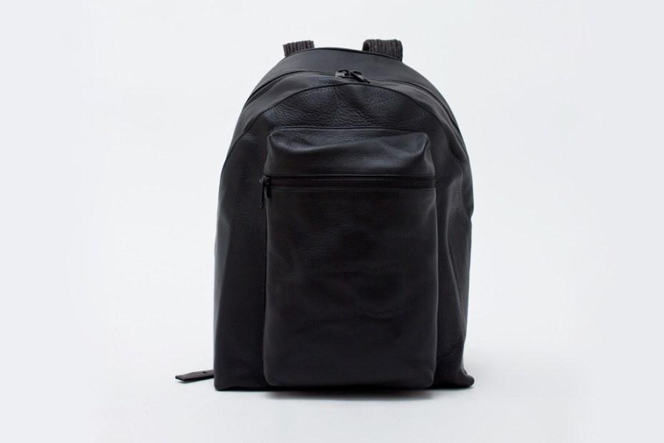 Image of Patrik Ervell Deerskin Leather Backpack