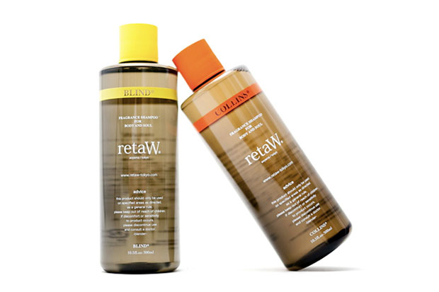 "Image of retaW Fragrance Shampoo ""BLIND"" and ""COLLINS"""