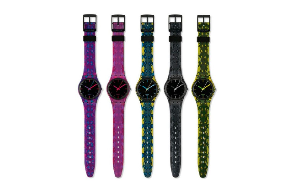 "Image of SWATCH New Gent ""Reptile"" Collection"