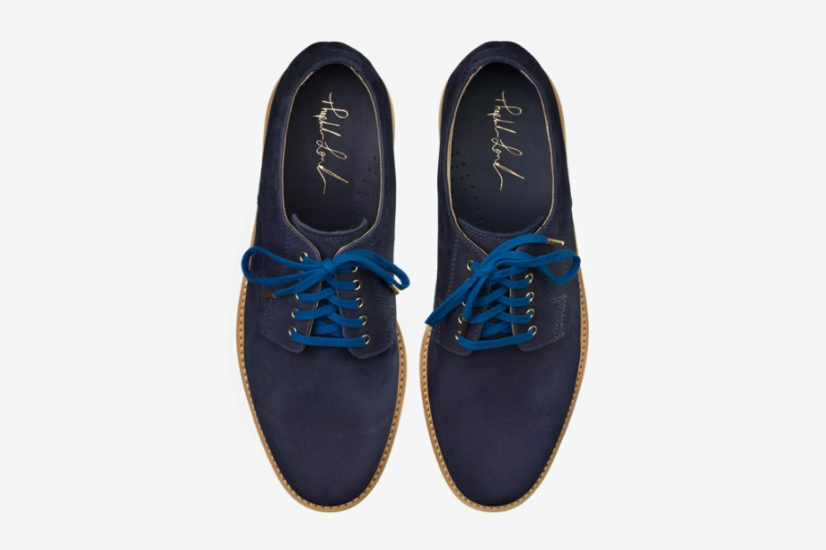 Image of Theophilus London x Cole Haan Blue Suede Buck