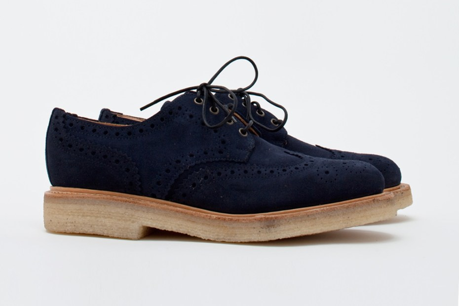 Image of Très Bien Shop x Mark McNairy Navy Suede Country Brogue