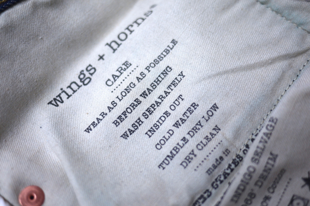Image of wings + horns 2011 Fall/Winter Selvage Denim Collection