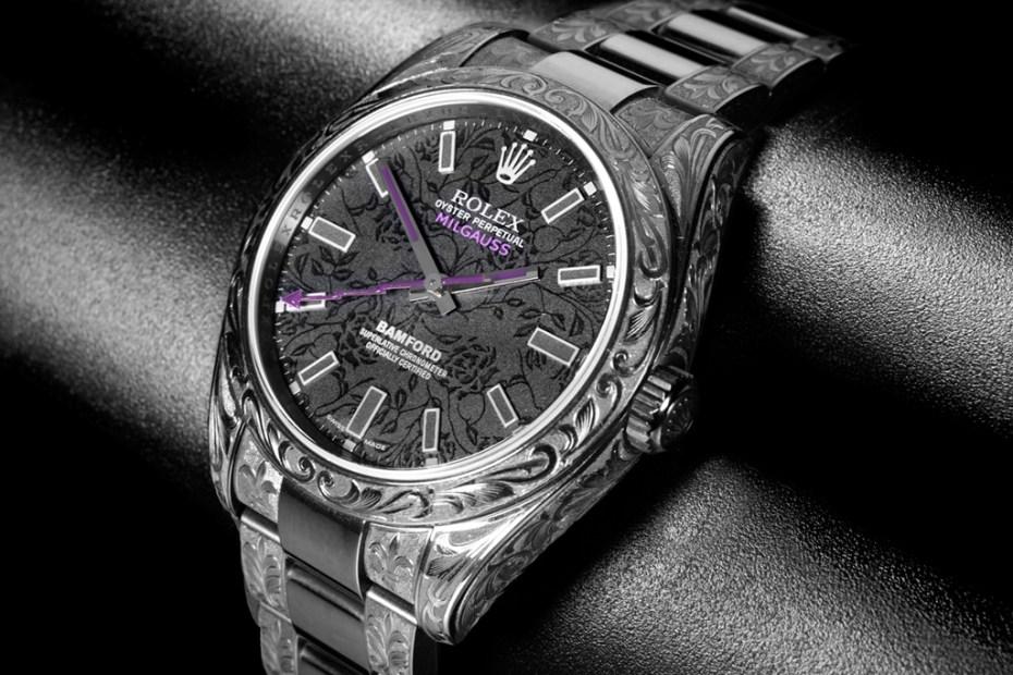 "Image of Bamford Watch Department Rolex Milgauss ""Black Rose"""