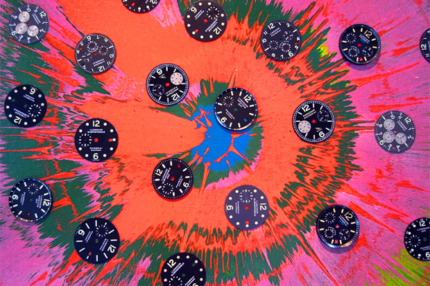 "Image of Damien Hirst ""Beautiful Sunflower Panerai"" Paintings"