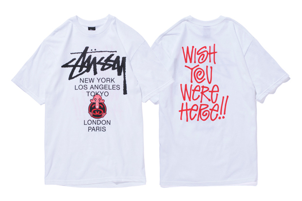 "Image of Eric Elms x Stussy ""Wish You Were Here"" T-Shirts"