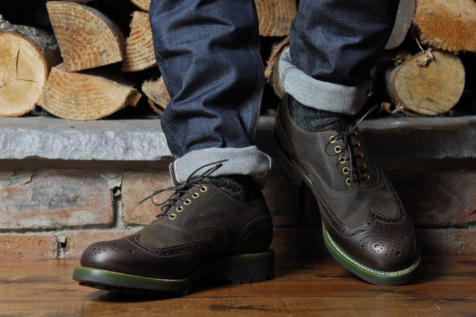 Image of Barbour x Grenson Marske Brogue Collection