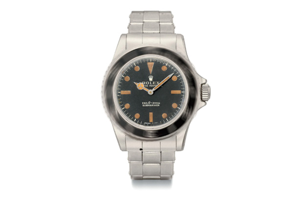 Image of James Bond's Rolex 5513 Submariner on Auction