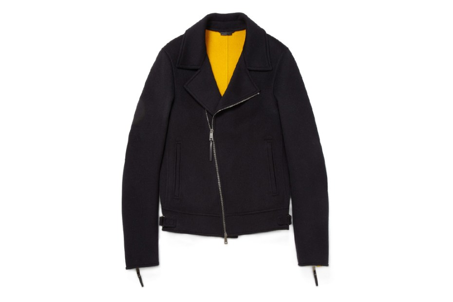 Image of Jil Sander Zipped Wool Biker Jacket