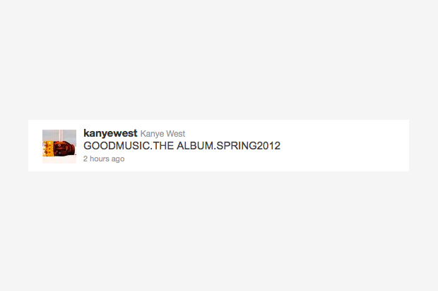 Image of Kanye West Announces 2012 G.O.O.D. Music: The Album