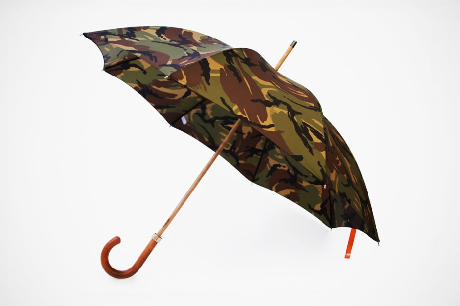 Image of London Undercover City Gent British Woodland Camouflage Umbrella