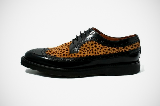 Image of Paul Smith Leopard Long Wingtip
