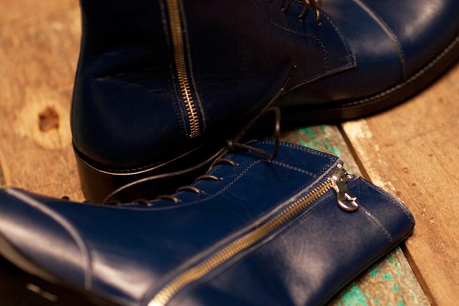 Image of PHENOMENON Leather Cap Toe Boot
