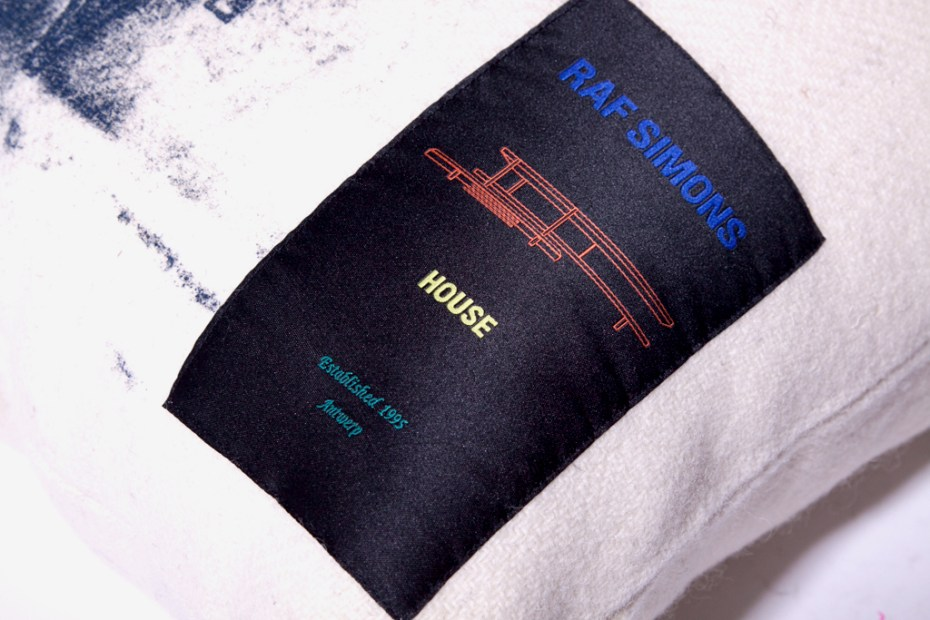 "Image of Raf Simons House ""Master Craftsman"" Cushion"
