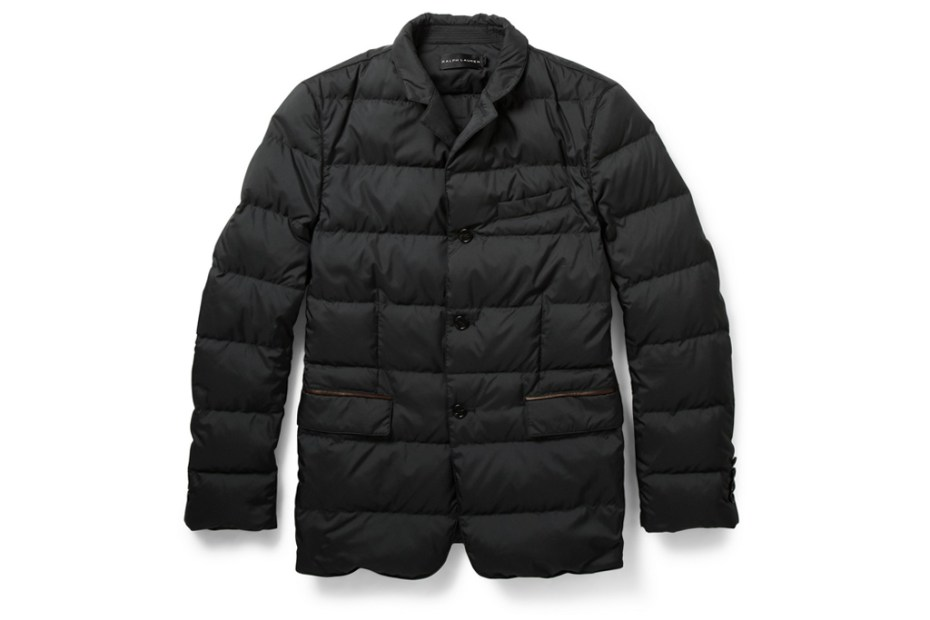 Image of Ralph Lauren Black Label Quilted Down-Filled Jacket