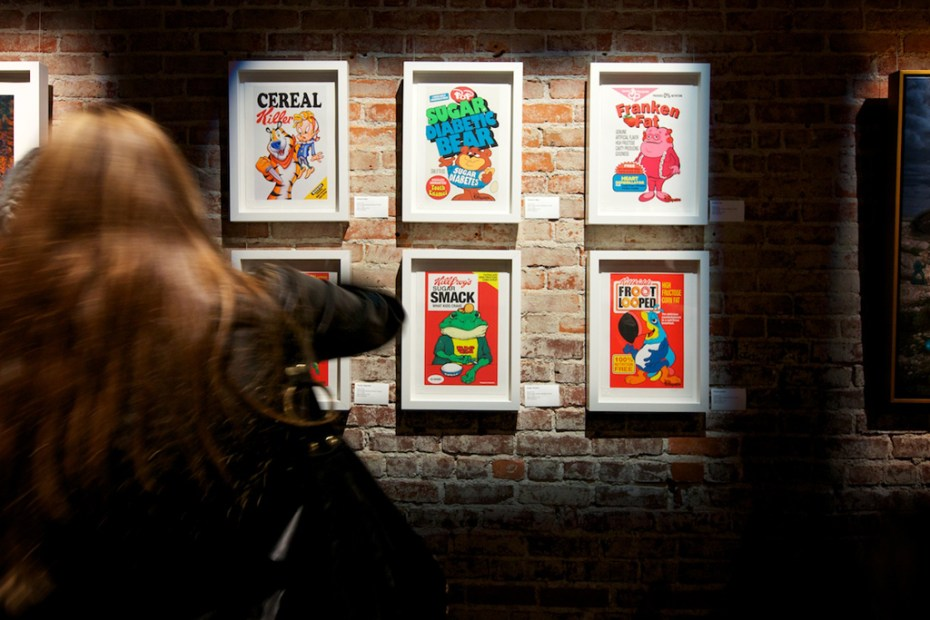 "Image of Ron English ""English 101"" Exhibition @ POST NO BILLS Recap"
