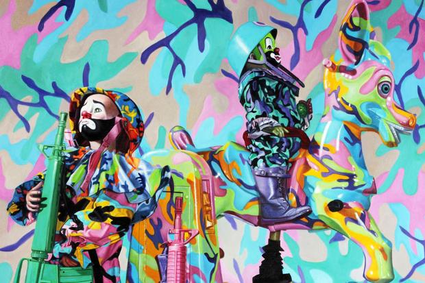 "Image of Ron English ""Seasons In Supurbia"" Exhibition @ Corey Helford Gallery"