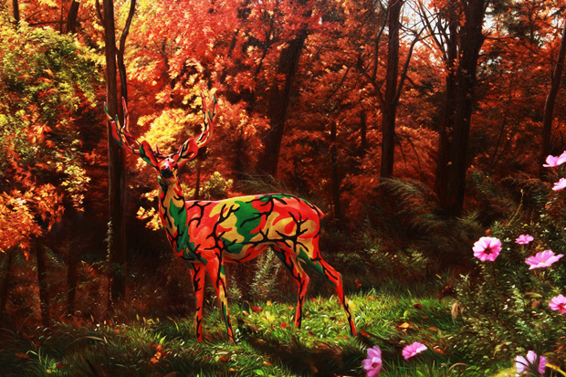 "Image of Ron English ""Seasons In Supurbia"" Exhibition @ Corey Helford Gallery"