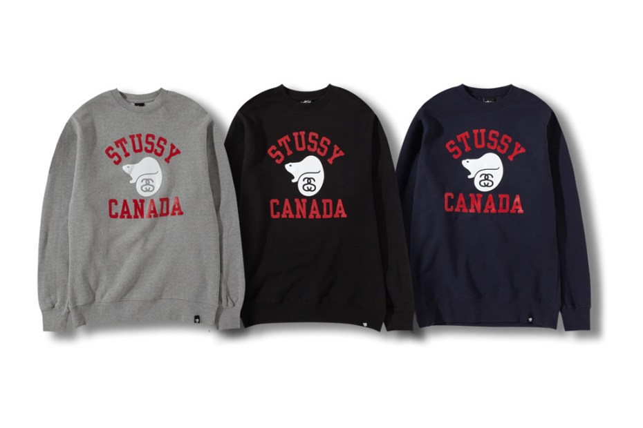 "Image of Stussy Canada ""Running the North"" Fleece Collection"