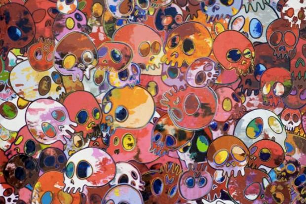 "Image of Takashi Murakami ""Homage to Yves Klein"" @ Galerie Emmanuel Perrotin Preview"