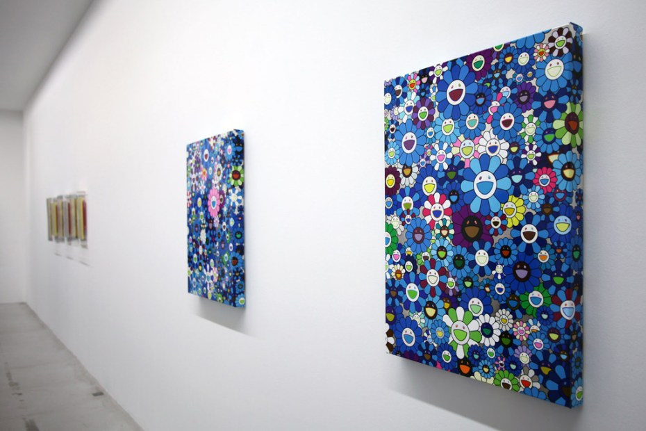 Image of Takashi Murakami &quot;Homage to Yves Klein&quot; @ Galerie Emmanuel Perrotin Recap
