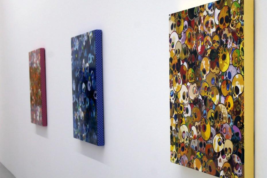 """Image of Takashi Murakami """"Homage to Yves Klein"""" @ Galerie Emmanuel Perrotin Recap"""
