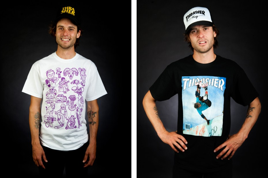 Image of Thrasher Magazine 2011 Fall Collection featuring Mark Gonzales, Lance Mountain, MoFo, Michael Sieben and Steve Cabellero