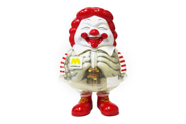 Image of Toy Tokyo x Secret Base x Ron English McSupersized HUMBERGER X-Ray Version