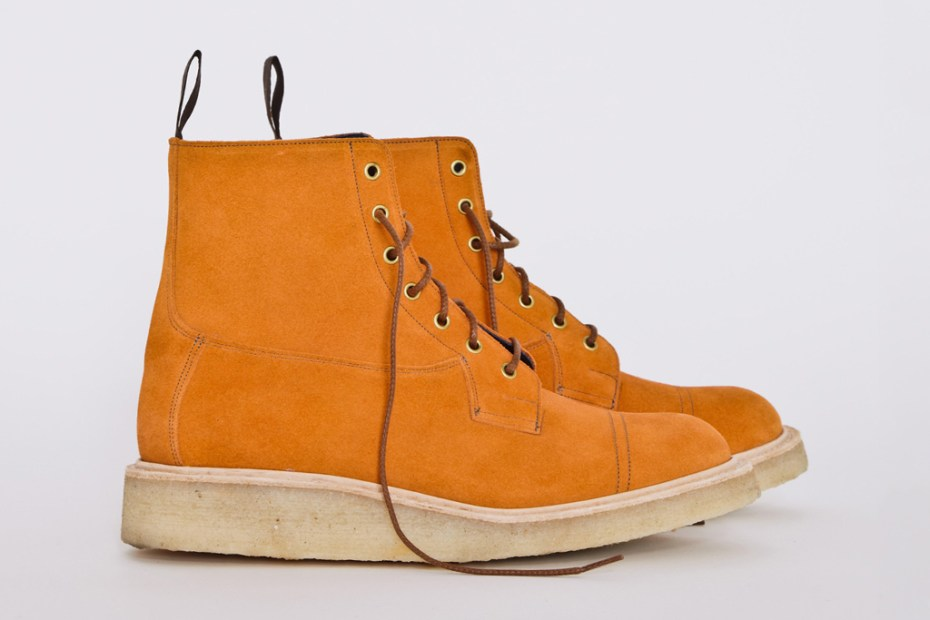 Image of Très Bien Shop x Tricker's Orange Suede Super Boots