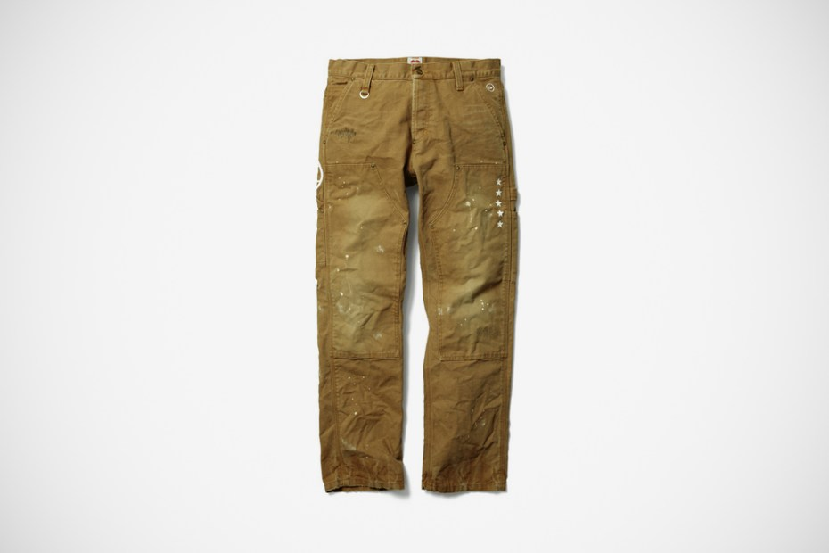 Image of uniform experiment x Carhartt DAMAGED DOUBLE FRONT LOGGER PANT