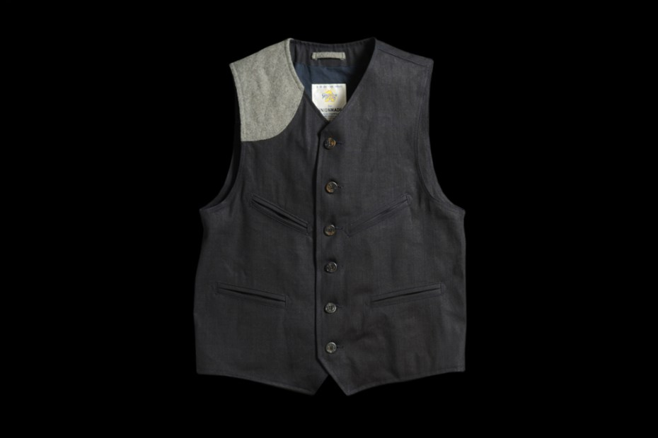 Image of UNIONMADE Indigo Golden Bear Vest
